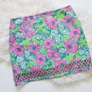 Lilly pulitzer blooming and cocooning mini skirt